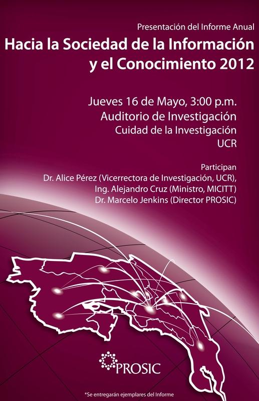 Afiche Invitación a  la presentación del Informe 2012 hacia la sociedad de la información